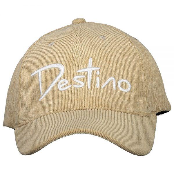 Destino baseball hat beige corduroy