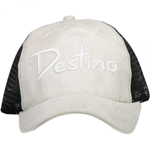 Destino trucker hat light grey suede