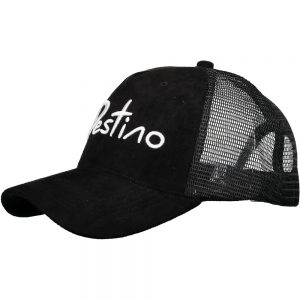 Destino trucker hat black suede