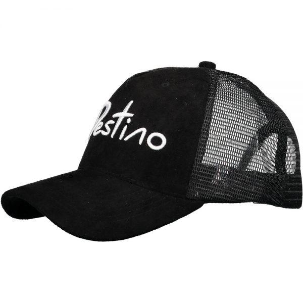 Destino trucker hat black suede