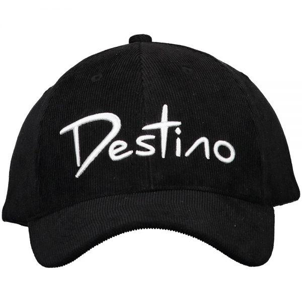 Destino baseball hat black corduroy